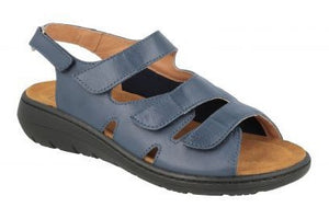 EasyB 68187N Mona Navy (EV) Womens Casual Comfort Wide Fit Leather Sandals