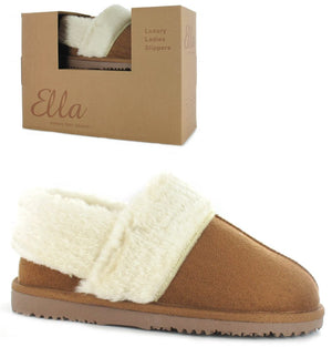 Ella Billy Chestnut Womens Casual Comfort Slip On Slippers