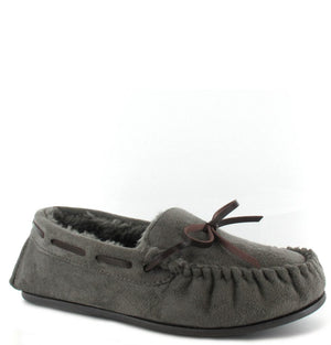 Ella Faith Grey Womens Casual Comfort Slip On Slippers