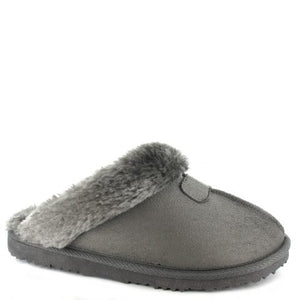 Ella Jill Grey Womens Casual Comfort Slip On Slippers