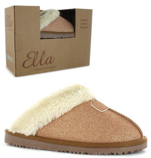 Ella Sparkle Rose Womens Casual Comfort Slip On Slippers