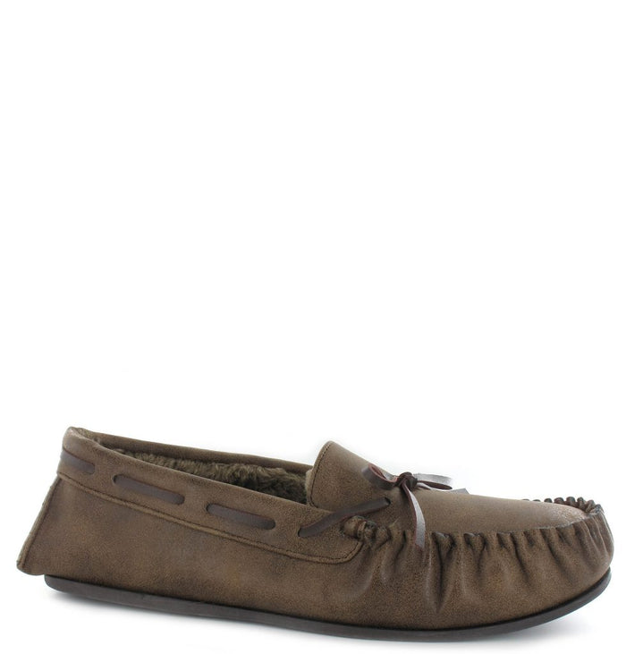 Ella Ted Brown Mens Casual Comfort Slip On Slippers