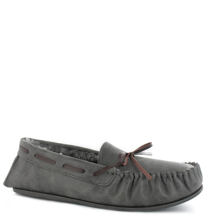 Ella Ted Grey Mens Casual Comfort Slip On Slippers