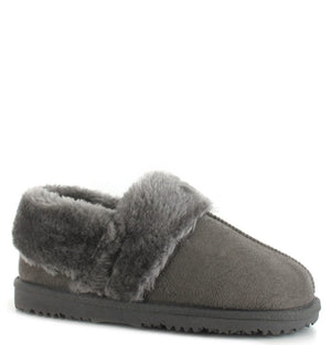 Ella Billy Grey Womens Casual Comfort Slip On Slippers