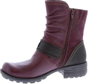 Earth Spirit Elmwood Rich Plum Womens Casual Comfort Ankle Boots