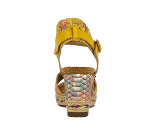 Laura Vita Facyo 06 Jaune Womens Casual Comfort Leather Handmade Sandals