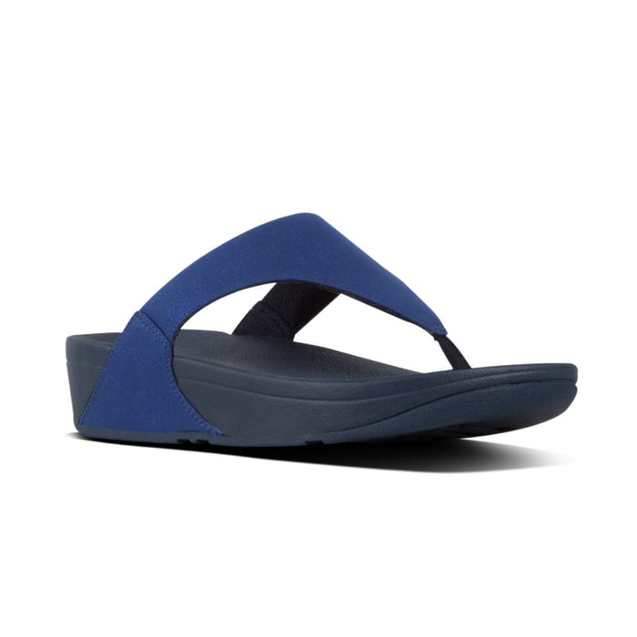 Fitflop Lulu Shimmer Midnight Navy Womens Casual Comfort Slip On Toe Post Sandals