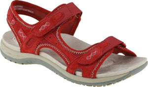 Earth Spirit Frisco Cardinal Red Women's Casual Touch Fastening Sandals