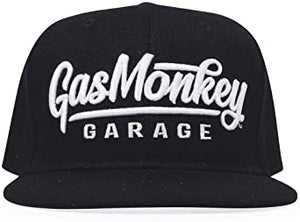 Gas Monkey Black 3D Script Logo Snap-Back Hat