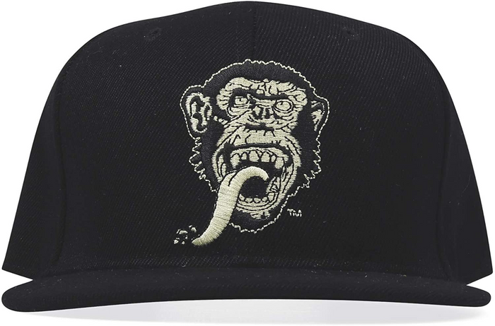 Gas Monkey Black Face On Snap-Back Hat