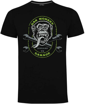 Gas Monkey Garage Black/Green Cross Spanners T-Shirts