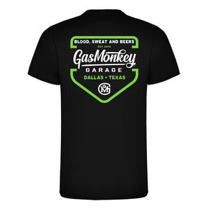 Gas Monkey Garage Black Green Shield T-Shirts