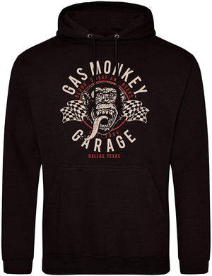 Gas Monkey Garage Black Hoodie Twin Flags