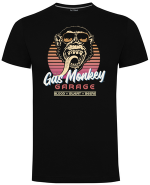 Gas Monkey Garage Black Retro Shades T-Shirts