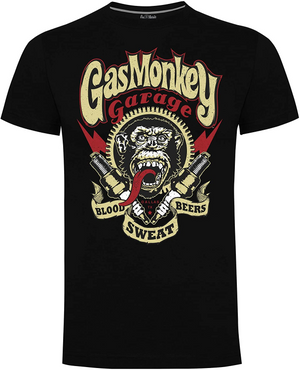 Gas Monkey Garage Black Spark Plugs T-Shirts