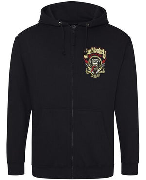 Gas Monkey Garage Black Zip Hoodie Spark Plugs