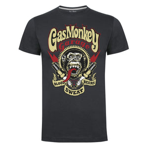 Gas Monkey Garage Charcoal Spark Plugs T-Shirts