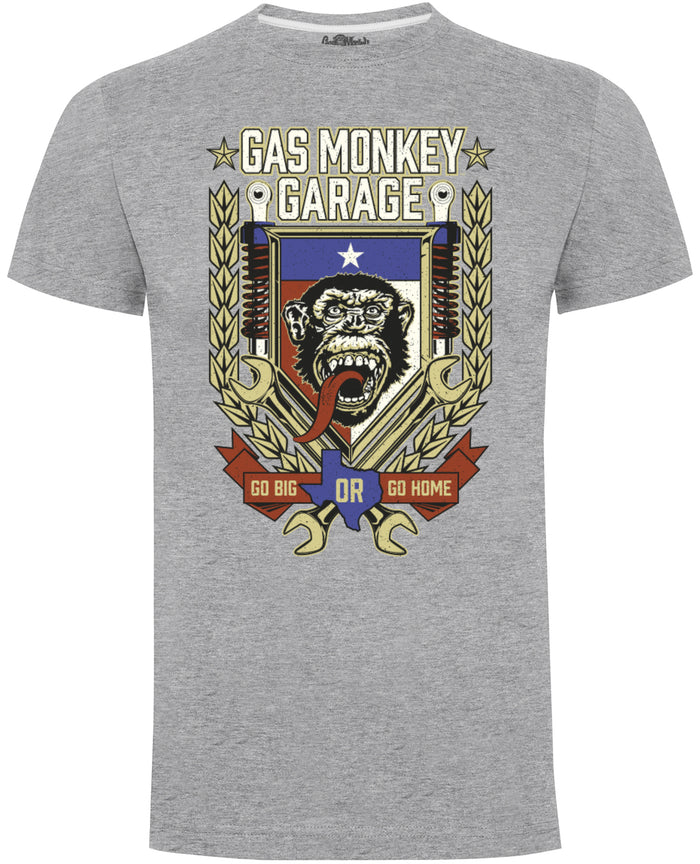 Gas Monkey Garage Grey Go Big or Go Home T-Shirts