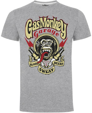 Gas Monkey Garage Grey Spark Plugs T-Shirts