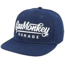 Gas Monkey Navy 3D Script Logo Snap-Back Hat