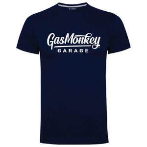 Gas Monkey Garage Navy Large Script Logo T-Shirts