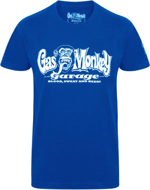 Gas Monkey Garage Royal Blue OG Logo T-Shirts