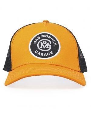 Gas Monkey Mustard/Black Initial Logo Patch Trucker Snap-Back Hat