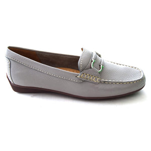 Globo Atherstone Dove Grey Womens Casual Comfort Leather Loafers
