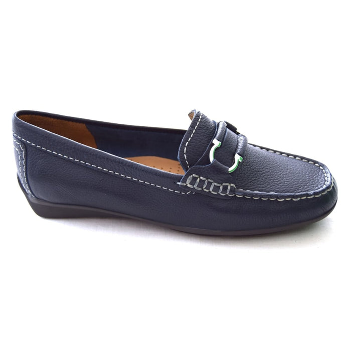 Globo Atherstone Blue Womens Casual Comfort Leather Loafers