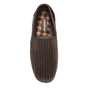 Goodyear Calder Brown Mens Comfort Memory Foam Slippers