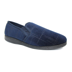Goodyear Denver Navy Mens Comfort Memory Foam Slippers