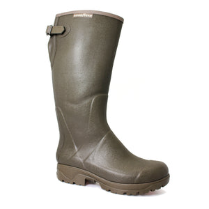 Goodyear EMG399 'Stream' Green Mens Casual Waterproof Rubber Wellingtons