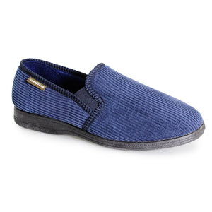 Goodyear Humber Navy Mens Comfort Memory Foam Slippers