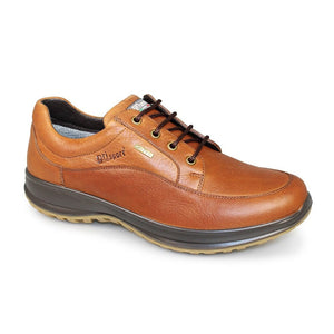 Grisport Livingston Tan Mens Lace Up Walking Real Leather Lightweight Shoes