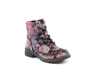 Heavenly Feet Cassie Floral Multi Kids Casual Vegan Friendly High Ankle Boots