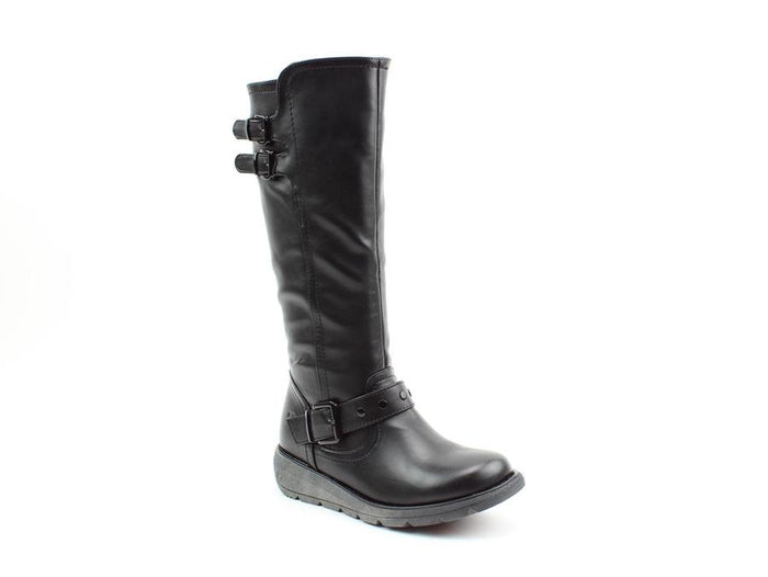 Heavenly Feet Erica Black Womens Casual Comfort Boots