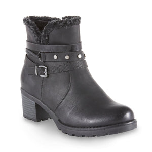 Heavenly Feet Fizz Black Casual Comfort Vegan Friendly Ankle Boots