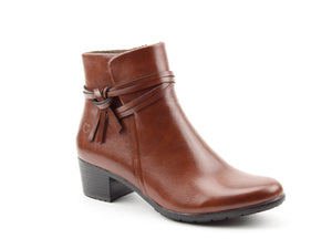 Heavenly Feet Annie Brandy Womens Casual Comfort Ankle Boots
