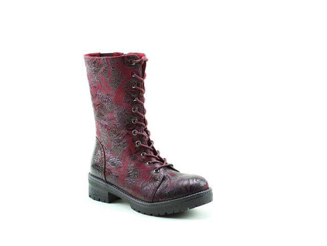 Heavenly Feet Arabella Wine Rose Womens Casual Comfort Vegan Friendly Calf Boots