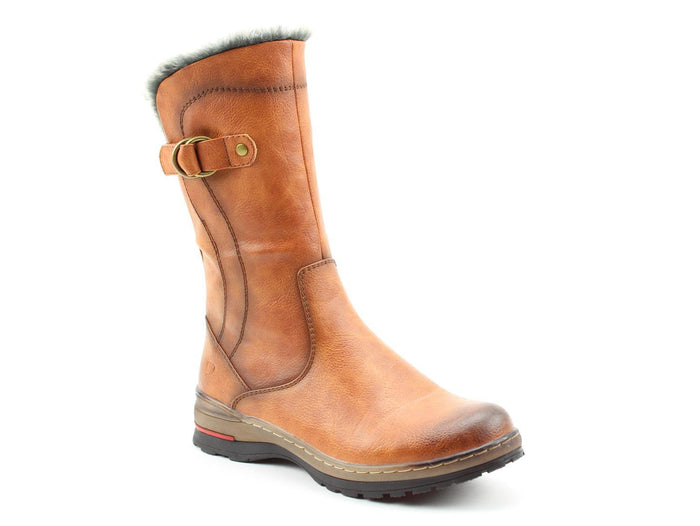 Heavenly Feet Bramble Tan Womens Casual Comfort Calf Boots