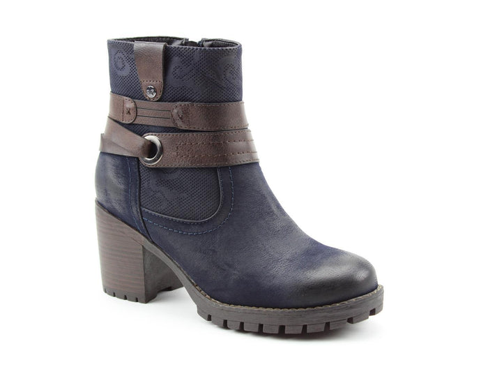 Heavenly Feet Carrie Midnight Womens Casual Comfort Ankle Boots