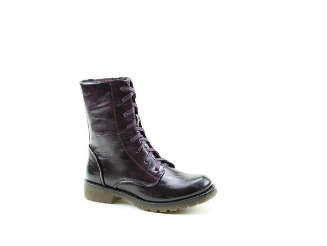 Heavenly Feet Chloe Purple Womens Casual Vegan Friendly High Ankle Boots