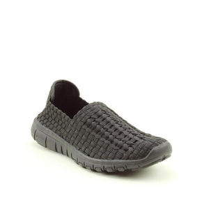 Heavenly Feet Cosmos Black Womens Casual Comfort Stylish Woven Shoes