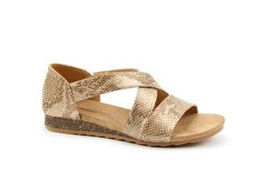 Heavenly Feet Estelle Reptile Womens Casual Comfort Sandals
