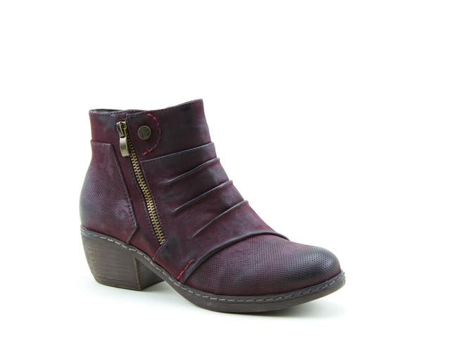 Heavenly Feet Hallie Burgundy Womens Casual Vegan Friendly Ankle Boots