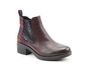Heavenly Feet Lauren Deep Burgundy Womens Casual Comfort Ankle Boots- uk8