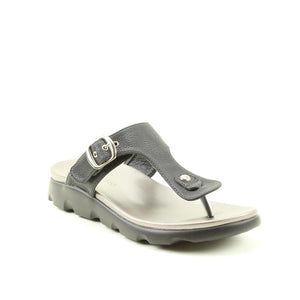 Heavenly Feet Layla Black Women's Casual Stylish Toe Post Sandals