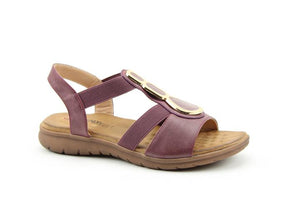 Heavenly Feet Palm Plum Womens Casual Comfort Slingback Sandals