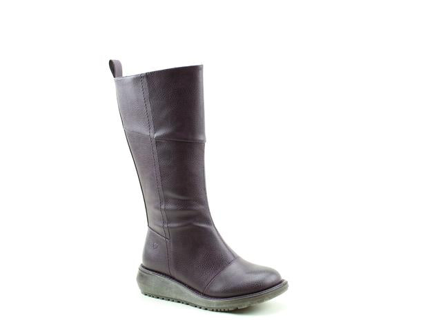 Heavenly Feet Robyn Plum Womens Casual Comfort Vegan Friendly Calf Boots