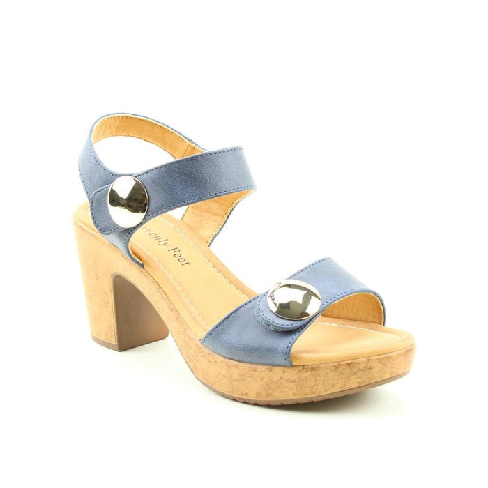 Heavenly Feet Sadie Navy Womens Stylish Dressy Heeled Sandals